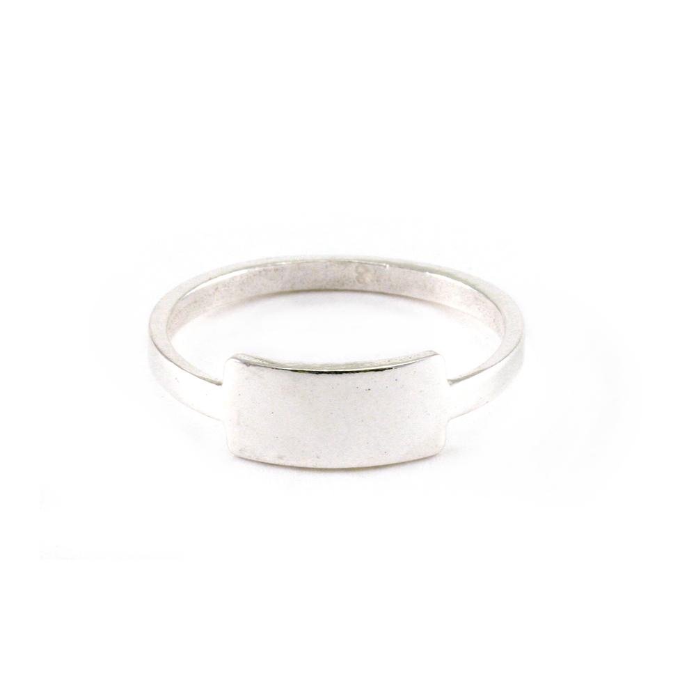 Metal Stamping Blanks Sterling Silver Tab Ring Stamping Blank, SIZE 8