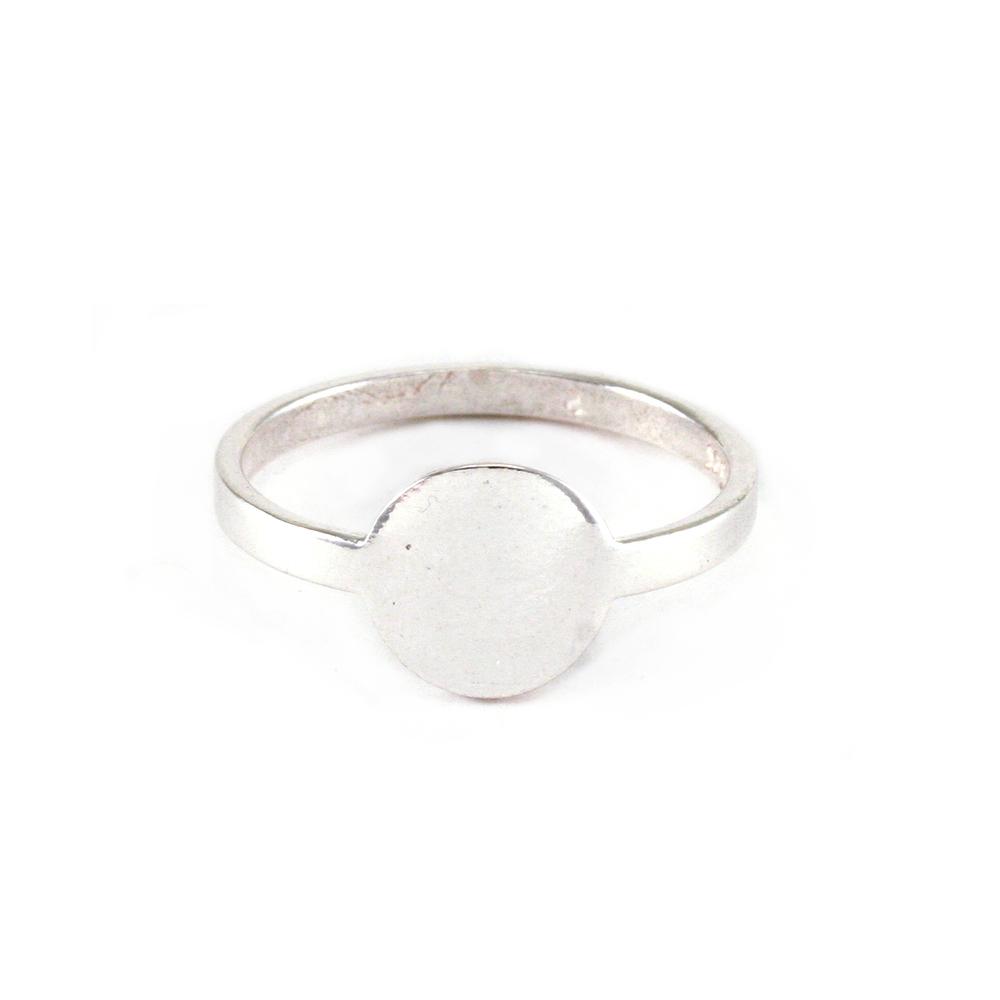 Metal Stamping Blanks Sterling Silver Circle Ring Stamping Blank, SIZE 6