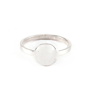 Metal Stamping Blanks Sterling Silver Circle Ring, SIZE 8