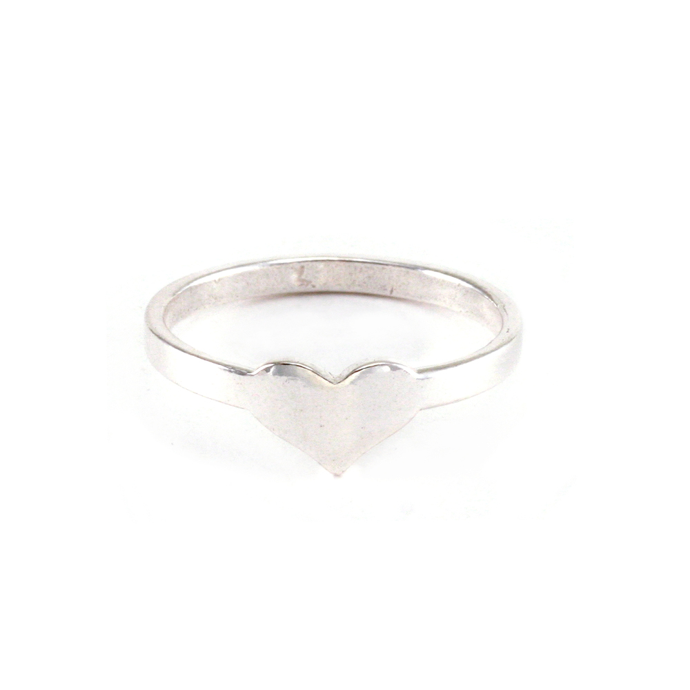 Metal Stamping Blanks Sterling Silver Heart Ring, SIZE 7