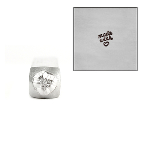Metal Stamping Tools ImpressArt 'Made with Love' Metal Design Stamp