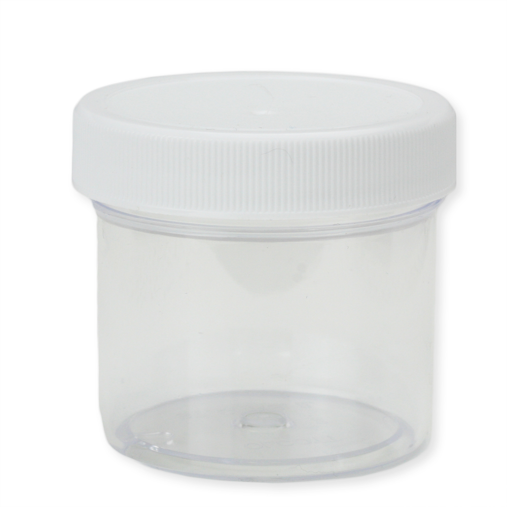 Jewelry Making Tools Medium Plastic Jar with Lid, 2 ounces