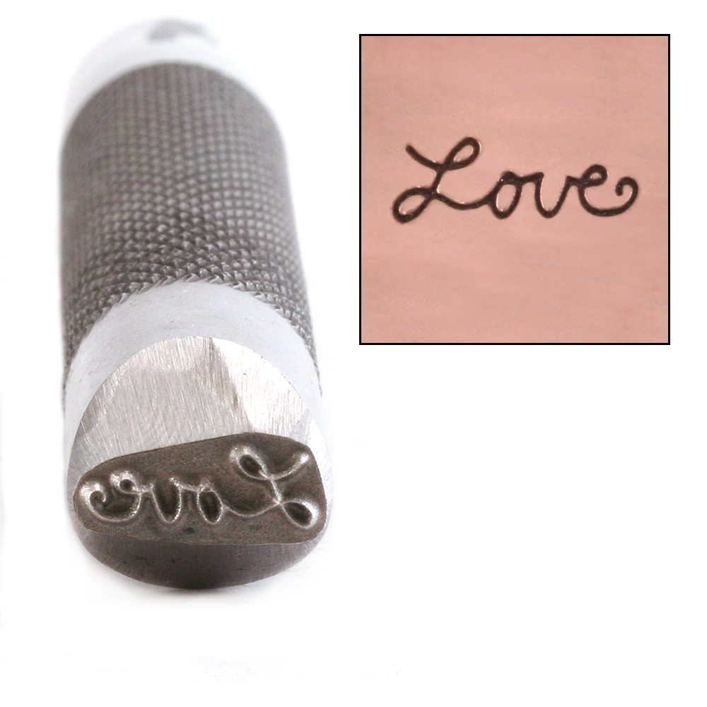 Metal Stamping Tools Advantage Series 'Love' Metal Design Stamp Guaranteed on Stainless Steel