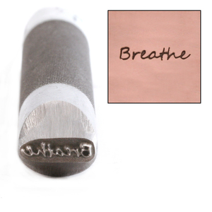 Metal Stamping Tools Advantage Series 'Breathe' Metal Design Stamp Guaranteed on Stainless Steel