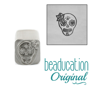 Metal Stamping Tools Female Sugar Skull Metal Design Stamp - Beaducation Original