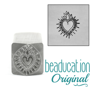 Metal Stamping Tools Large Sacred Heart Metal Design Stamp, 11.5mm Beaducation Original