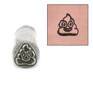 Metal Stamping Tools Pile of Poop Emoji Design Stamp