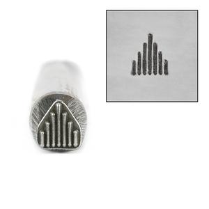 Metal Stamping Tools Large Native American Graduated Lines Metal Design Stamp