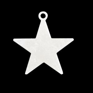 """Metal Stamping Blanks Sterling Silver Star with Top Loop, 25mm (1""""), 20g"""
