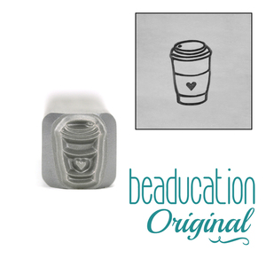 Metal Stamping Tools To Go Paper Coffee Cup Metal Design Stamp - Beaducation Original