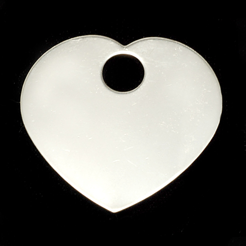 Metal Stamping Blanks Sterling Silver Large Heart with Large Hole, 24g