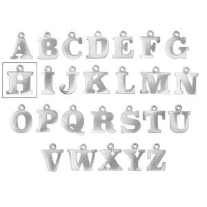 "Metal Stamping Blanks Pewter Letter H, 19mm (.75""), 16g"
