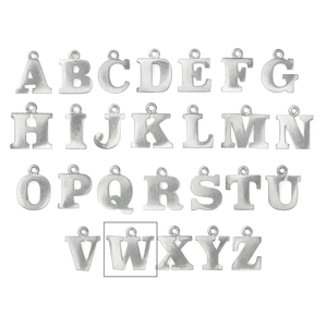 """Metal Stamping Blanks Pewter Letter W, 19mm (.75""""), 16g"""