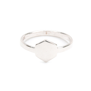 Metal Stamping Blanks Sterling Silver Hexagon Ring Stamping Blank, SIZE 8