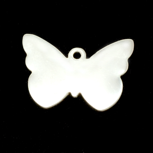 Metal Stamping Blanks Sterling Silver Butterfly with Hole, 24g