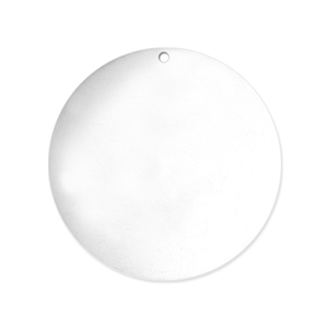 "Metal Stamping Blanks Sterling Silver Round, Disc, Circle with Hole, 22mm (.87""), 24g"