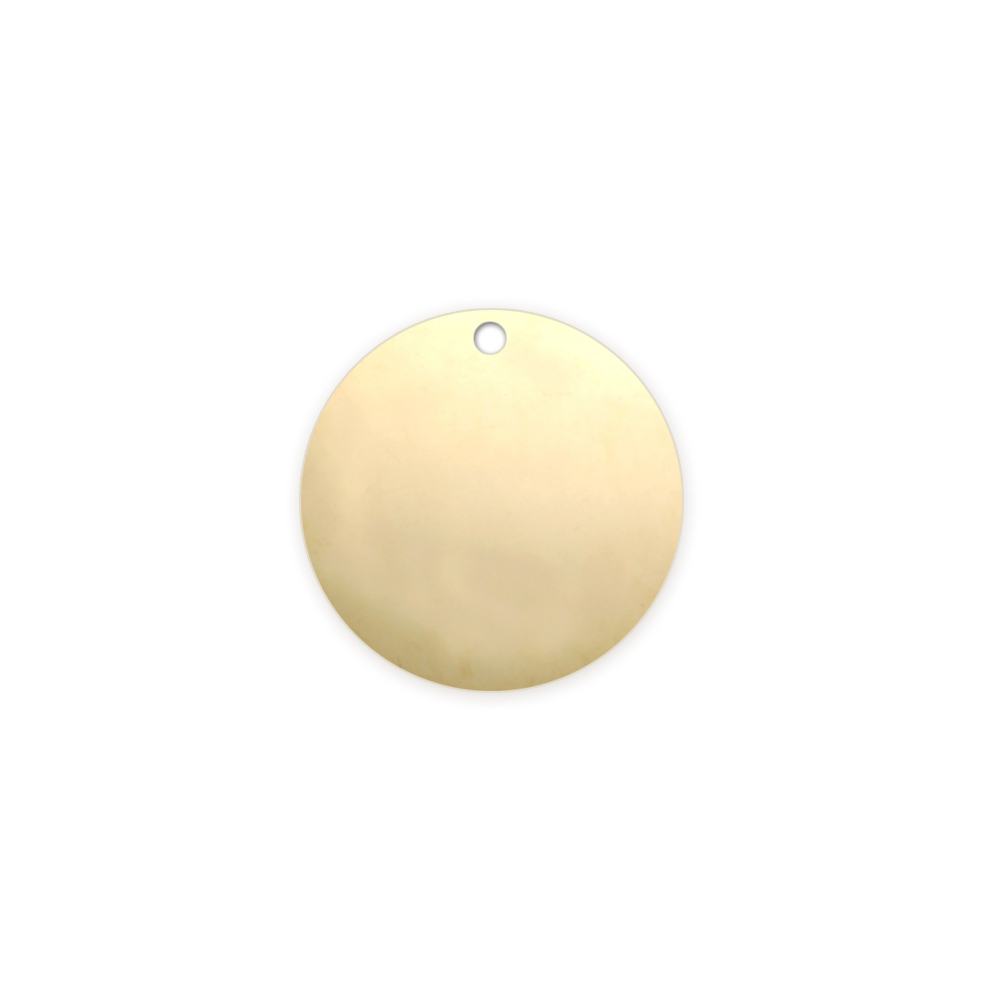 "Metal Stamping Blanks Gold Filled Round, Disc, Circle with Hole, 12.7mm (.50""), 22g"