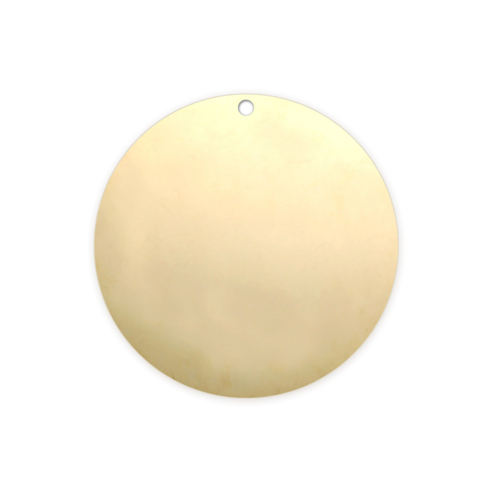 "Metal Stamping Blanks Gold Filled Round, Disc, Circle with Hole, 19mm (.75""), 22g"