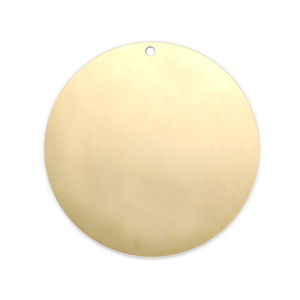 """Metal Stamping Blanks Gold Filled Circle with Hole, 22mm (.87""""), 24g"""