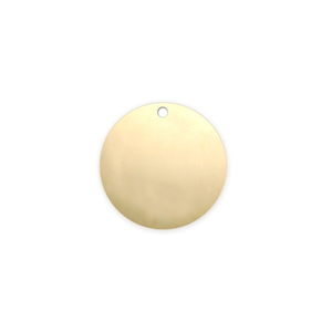 "Metal Stamping Blanks Gold Filled Round, Disc, Circle with Hole, 12.7mm (.50""), 20g"