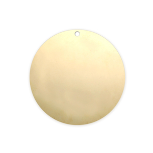 "Metal Stamping Blanks Gold Filled Round, Disc, Circle with Hole, 19mm (.75""), 20g"