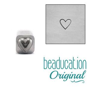 Metal Stamping Tools Tall Heart Metal Design Stamp 3.5mm - Beaducation Original