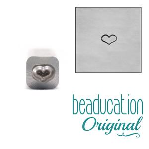 Metal Stamping Tools Fat Heart Metal Design Stamp 3mm - Beaducation Original
