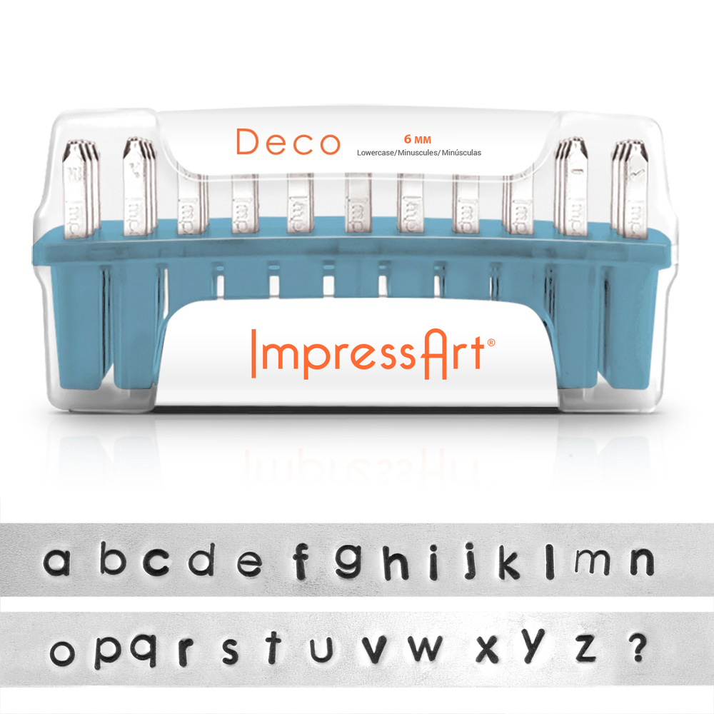 Metal Stamping Tools ImpressArt Deco Lowercase Letter Set 6mm