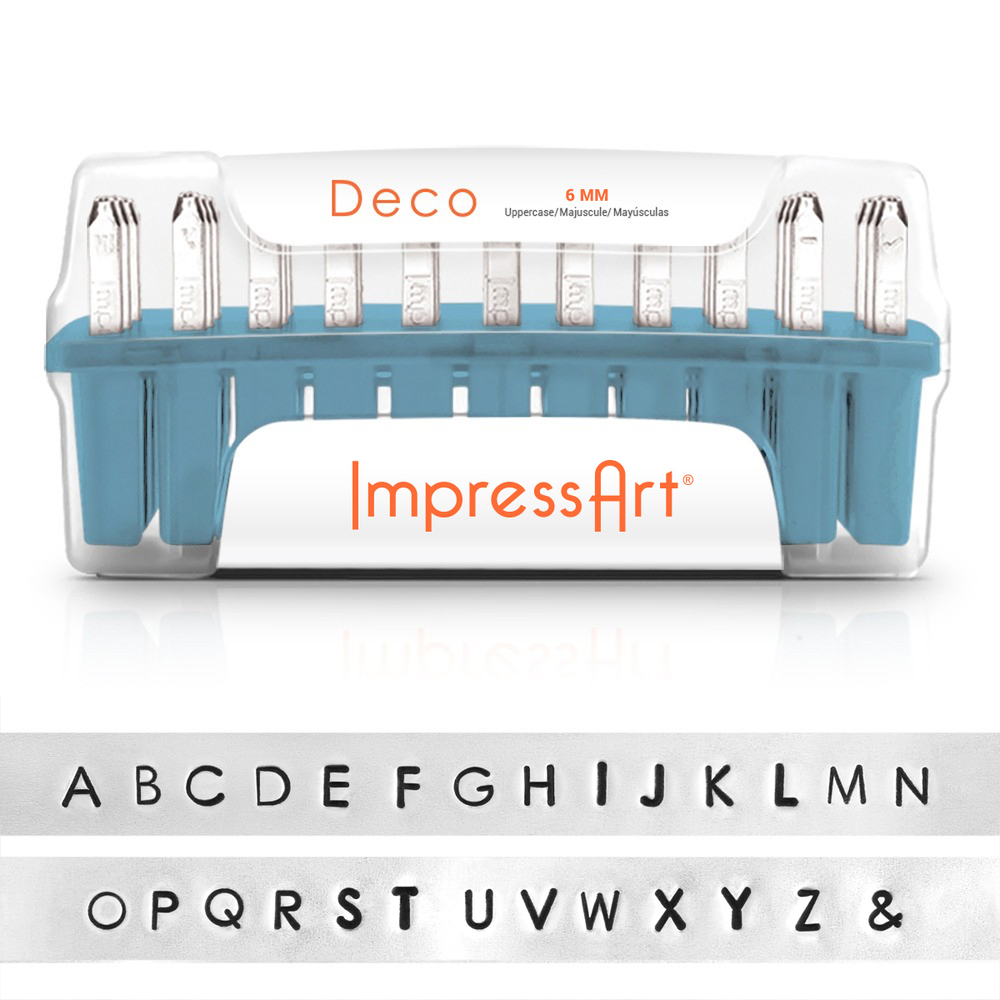 Metal Stamping Tools ImpressArt Deco Uppercase Letter Set 6mm