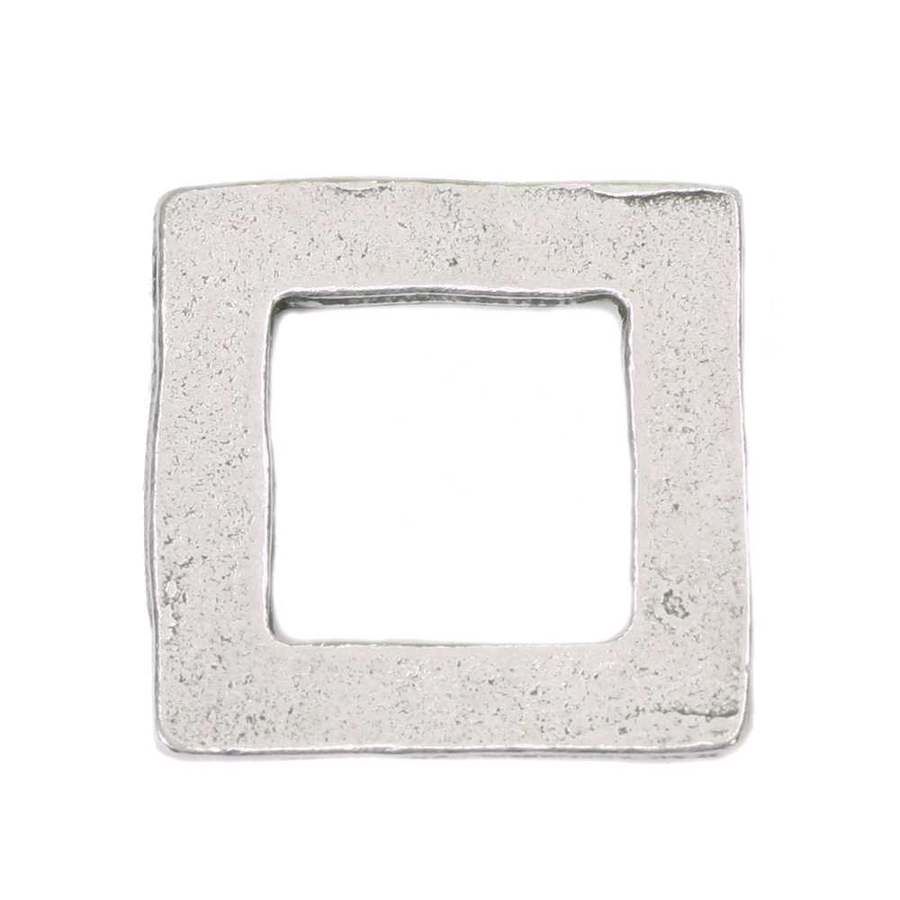 "Metal Stamping Blanks Pewter Square Washer, 25mm (1"") with 18mm (.71"") ID, 16g"
