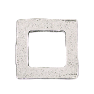 "Metal Stamping Blanks Pewter Square Washer, 25mm (.98""), 16g"