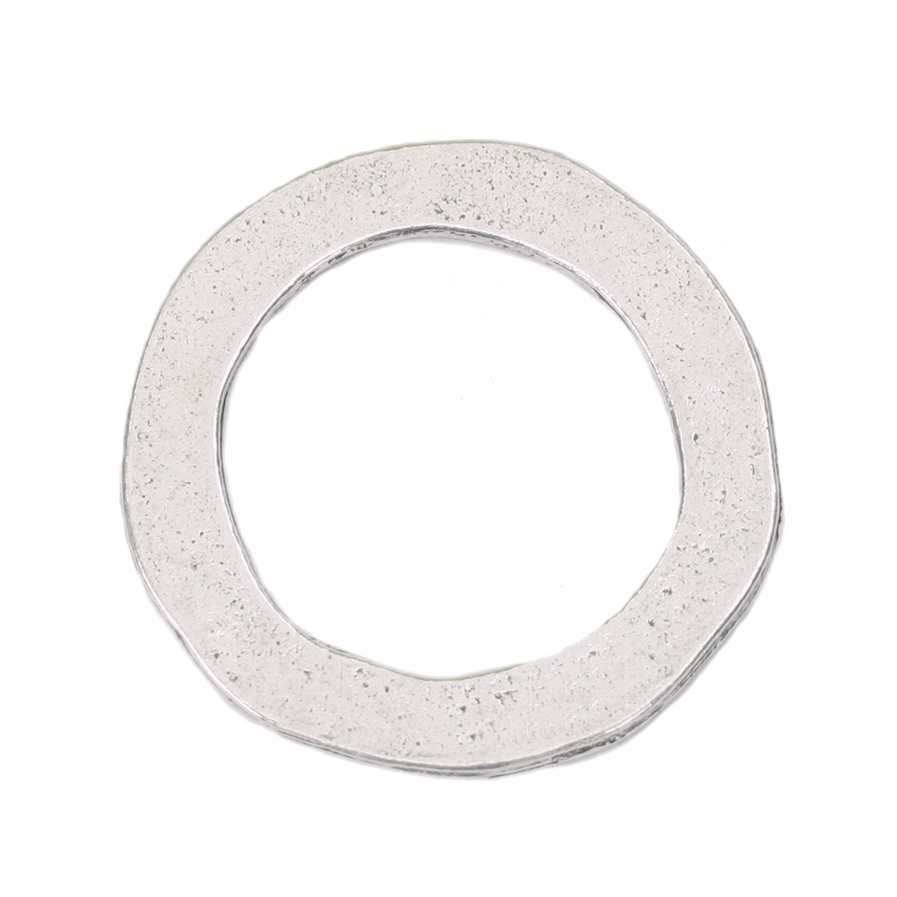 "Metal Stamping Blanks Pewter Circle Washer, 25mm (1"") with 18mm (.71"") ID, 16g"