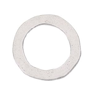 "Metal Stamping Blanks Pewter Round, Disc, Circle Washer, 25mm (1"") with 18mm (.71"") ID, 16g"