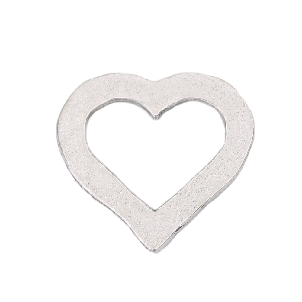 "Metal Stamping Blanks Pewter Heart Washer, 24mm (.94"") x 23mm (.91), 16g"