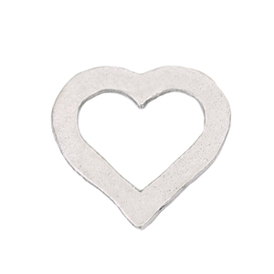 "Metal Stamping Blanks Pewter Heart Washer, 27mm (1.06"") x 25mm (.98""), 16g"