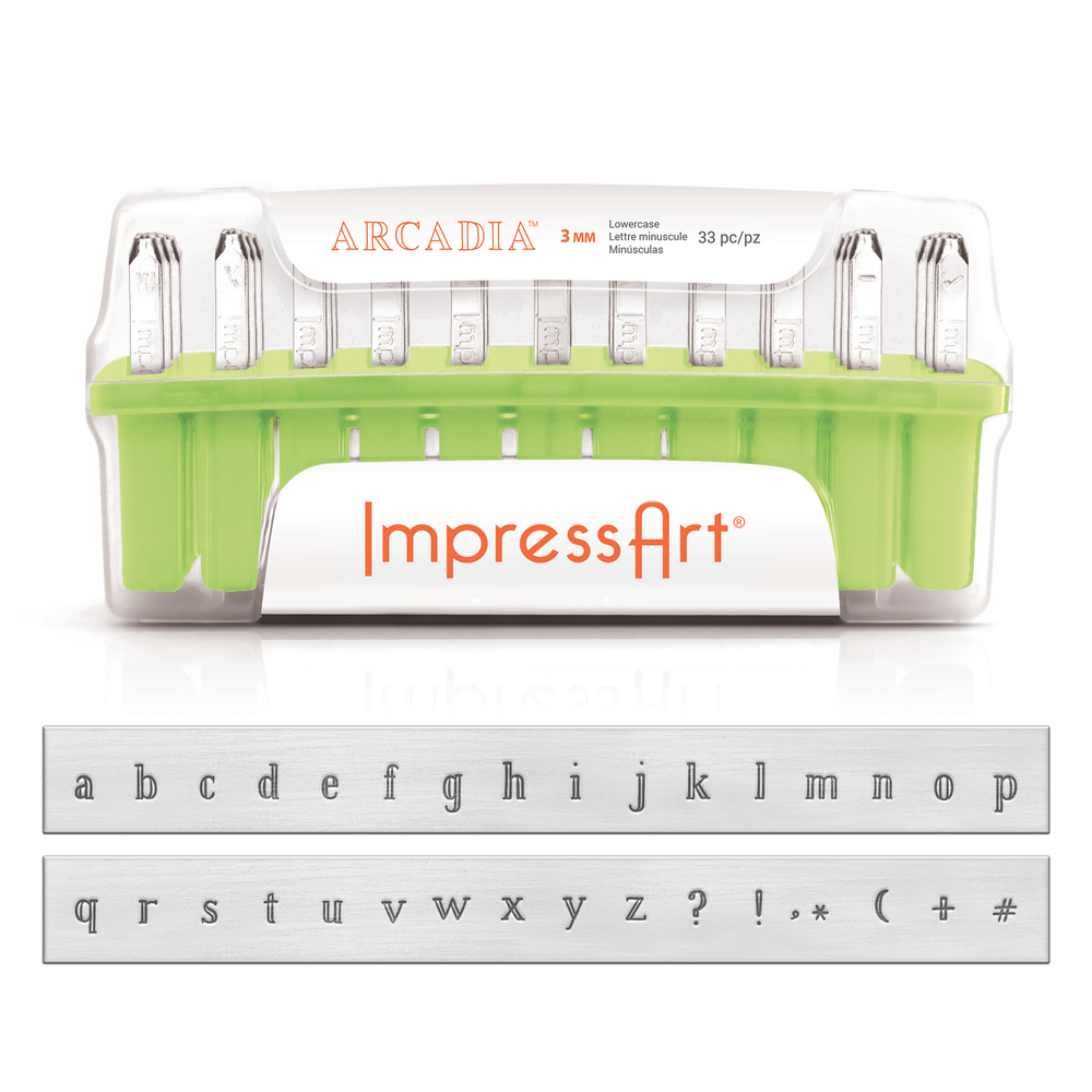 Metal Stamping Tools ImpressArt Arcadia Lowercase Letter Set 3mm