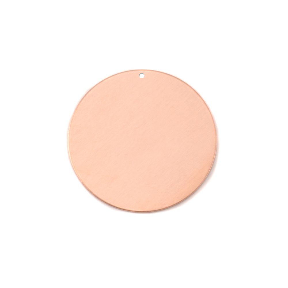 "Metal Stamping Blanks Copper Round, Disc, Circle with Hole, 19mm (.75""), 24g, Pk of 5"