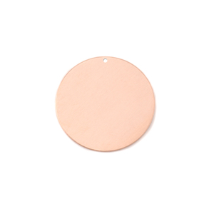 "Metal Stamping Blanks Copper Round, Disc, Circle with Hole, 16mm (.63""), 18g"