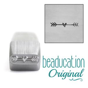 Metal Stamping Tools Fletched Heart Arrow Border Metal Design Stamp, 10mm - Beaducation Original