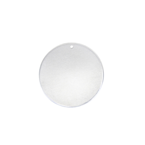 "Metal Stamping Blanks Aluminum Round, Disc, Circle with Hole, 16mm (.63""), 18 Gauge, Pack of 5"