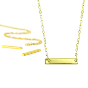 Kits & Sample Packs ImpressArt Personal Impressions, Small Rectangle, Gold Plated - 5 necklaces