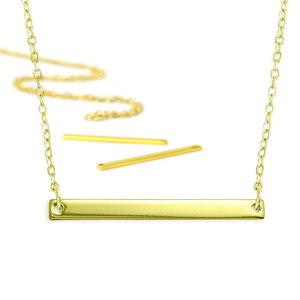 Kits & Sample Packs ImpressArt Personal Impressions, Large Rectangle, Gold Plated - 5 necklaces