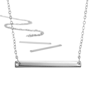 Kits & Sample Packs ImpressArt Personal Impressions, Large Rectangle, Silver Plated - 5 necklaces