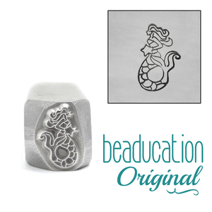 Metal Stamping Tools Mermaid Holding Starfish Metal Design Stamp, 11mm Beaducation Original