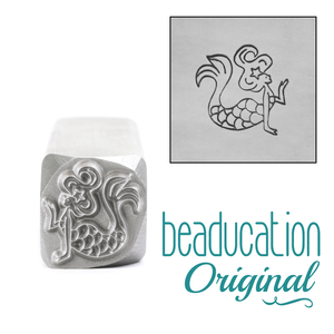 Metal Stamping Tools Mermaid Blowing Kiss Metal Design Stamp, 11mm Beaducation Original
