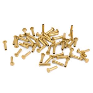 "Rivets,  Findings & Stringing Brass Hollow 1/16"" Rivets, 3/16"" Long"