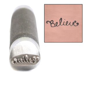 Metal Stamping Tools Advantage Series 'Believe' Metal Design Stamp Guaranteed on Stainless Steel