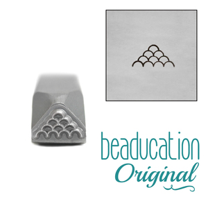 Metal Stamping Tools Mermaid Scales Metal Design Stamp, 8mm Beaducation Original