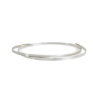 "Wire & Sheet Metal Fine Silver 3.2mm, 28g Bezel Wire, 24"" Length"