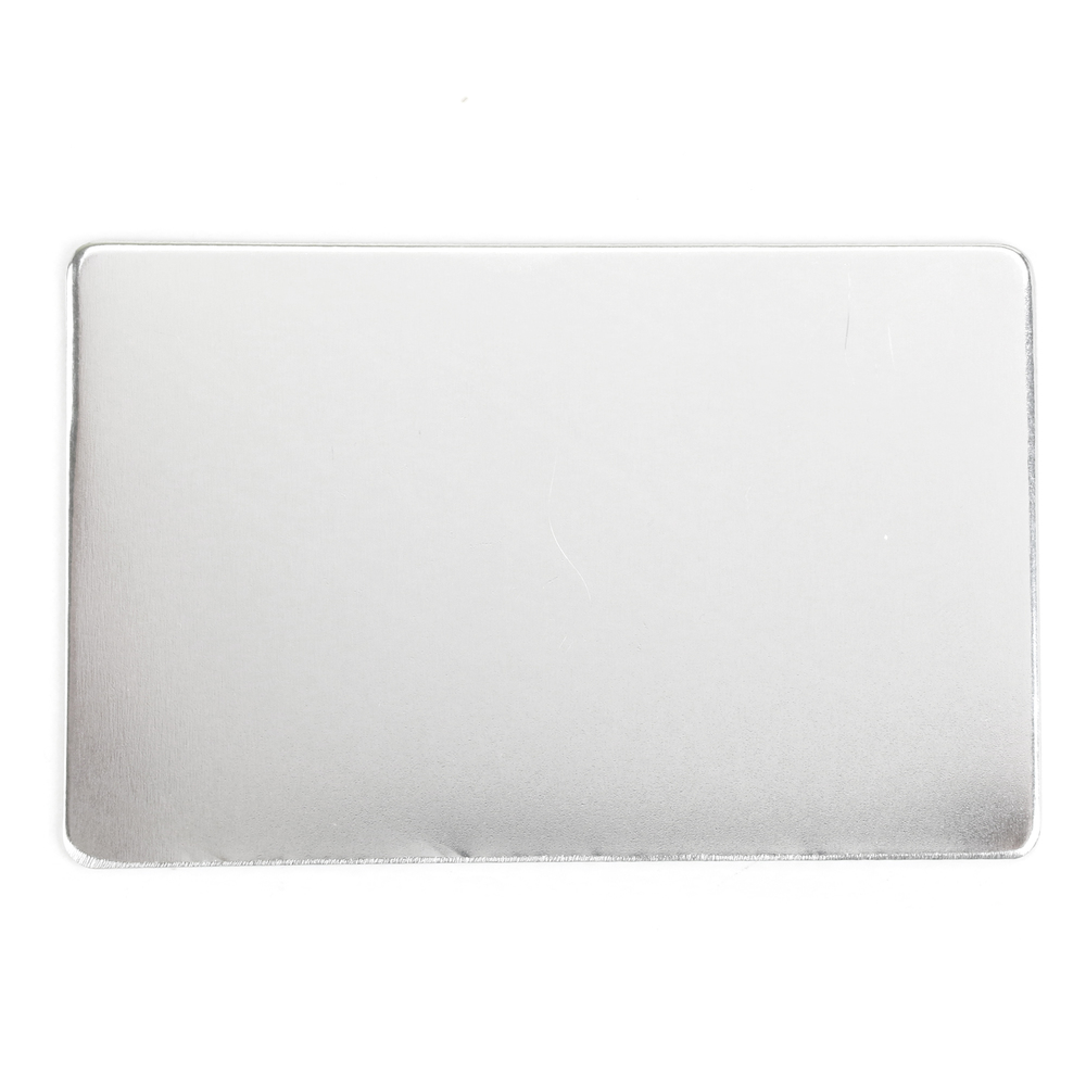 "Metal Stamping Blanks Aluminum Wallet Card, 85.5mm (3.36"") x 53.8mm (2.12""), 16g"